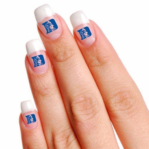 Duke Blue Devils 4-Pack Temporary Nail Tattoos at Amazon.com