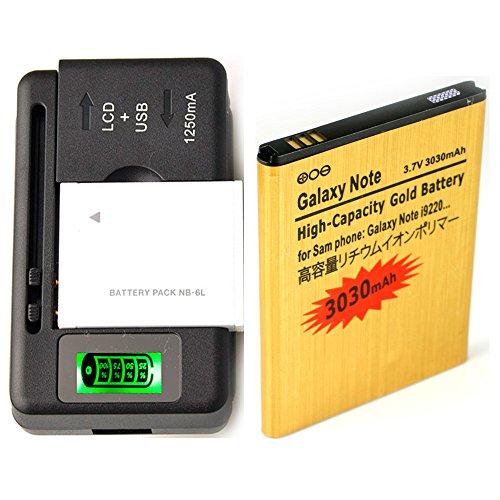 High Capacity Battery Eb615268Va Eb615268Vu + Universal Led Charger For Samsung Galaxy Note Sgh-I717 / Samsung Galaxy Note Sgh-T879 / Samsung Galaxy Note Gt-N7000 / Samsung Galaxy Note Gt-I9220 3030 Mah