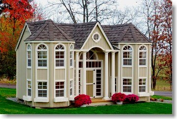 Grand Portico Mansion 10' x 16' Wood Playhouse Kit With Floor