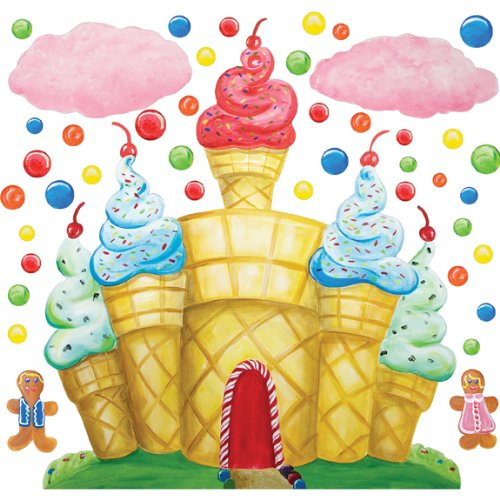 Cotton Candy Land Castle Clouds Wall Decals