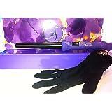Herstyler Grande Purple Hair Professional Curling Iron (Purple Handle, Black Rod)
