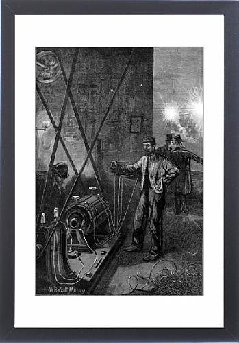Framed Print Of Gramme S Dynamo-Electrical Machine