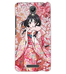 ColourCraft Beautiful Girl Design Back Case Cover for XIAOMI REDMI NOTE 2 PRIME
