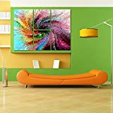 Multiple Frames Printed Colors Design Like Modern Wall Art Painting