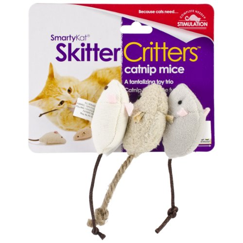 SmartyKat Skitter Critters Cat Toy Catnip Mice 3 Pack