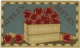 Apple Basket Red Green Non-Slip (Non-Skid) Kitchen Mat Rubber Back Rug 18\