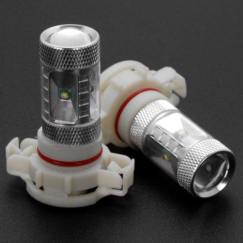 2X H16 6000K Xenon White Error Free 6 Cree Led Smd Projector Lens Bulb For Backup Reverse Light, Daytime Running Light 12V