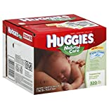 Huggies Natural Care Wipes, Fragrance Free, 320 wipes