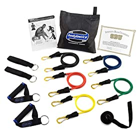 Bodylastics ***MAX TENSION Heavy Duty Exercise Resistance Bands System with User Book