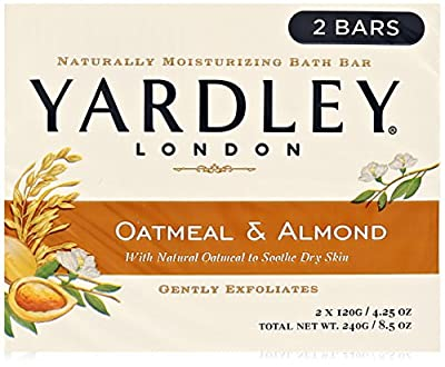 Yardley London Soap Bath Bar, Oatmeal & Almond, 4.25 Oz /120 G (Pack of 8)