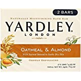Yardley London Soap Bath Bar, Oatmeal & Almond, 4.25 Oz /120 G (Pack of 8)