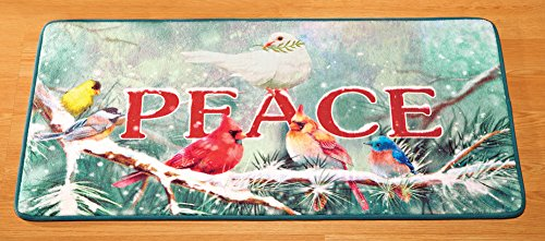Collections Etc Peace Winter Birds Accent Rug