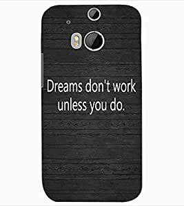 ColourCraft Inspirational Quote Design Back Case Cover for HTC ONE M8