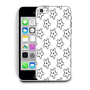 Snoogg White Pattern Printed Protective Phone Back Case Cover For Apple Iphone 6+ / 6 Plus