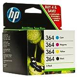 HP 364 Original Printer Ink Cartridges (Cyan / Magenta / Yellow / Black) For use with HP Deskjet 3070A 3520 Officejet e-AIO 4620 4622 Photosmart B8550 C5324 C5380 C6324 C6380 D5460 Photosmart e-Station C510a Photosmart B010a B109a B109d B109f Photosmart