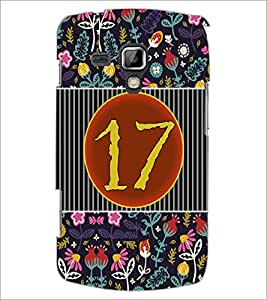 PrintDhaba Numerology Number 17 D-3105 Back Case Cover for SAMSUNG GALAXY S DUOS 2 S7582 (Multi-Coloured)