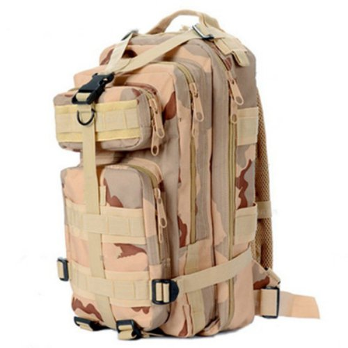 Sport Outdoor Military Rucksacks Tactical Molle Backpack Camping Hiking Trekking Bag-Desert Camouflage