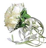 (ジェイビーエス)JBS ウェディングブーケ ブライダル フラワー 結婚式 花嫁 披露宴 バラ 花束 (オフホワイト)
