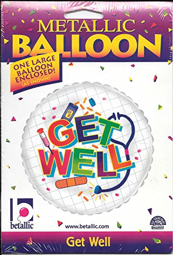"18"" Metallic Balloon Get Well Bandage Medicine Betallic - 1"