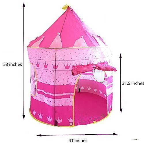 Best Price Sure Luxury Girl's Pink Princess Castle Play Tent - Indoor and Outdoor Use