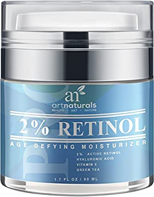 Best Cheap Deal for Art Naturals Retinol Cream 1.7 oz Anti Aging Moisturizer with 2.5% Active Retinol & 20% Vitamin C, Hyaluronic Acid, Vitamin E & Aloe Vera - Best Anti Wrinkle, Aging Serum for Eye Face & Sensitive Skin by ArtNaturals - Free 2 Day Shippi