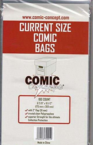 Comic Bags Current Size (100 ct.) [Edizione : Germania]