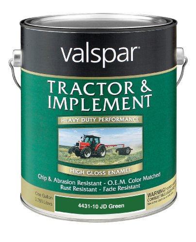 Valspar 4431-10 JD Green Tractor and Implement Paint - 1 Gallon (Green Primer Car Paint compare prices)