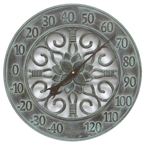 Chaney Instruments Acu-Rite 46040 14-inch Cast Aluminum Thermometer, Verdi