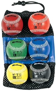 Markwort 9-Inch Leather Cover Weighted Baseball Set (1 each 7oz, 8oz, 9oz, 10oz,... by Markwort