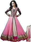 Fashion Kanya Women's fashion Pink Net Dress Material