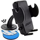Arkon Adhesive Dashboard, Desktop, And Console Mount And Mega Grip Holder For IPhone, HTC EVO 4G, HD2, Droid Incredible...