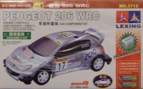 Peugeot 206 WRC R/C Mini 4WD Car: Car Component Kit