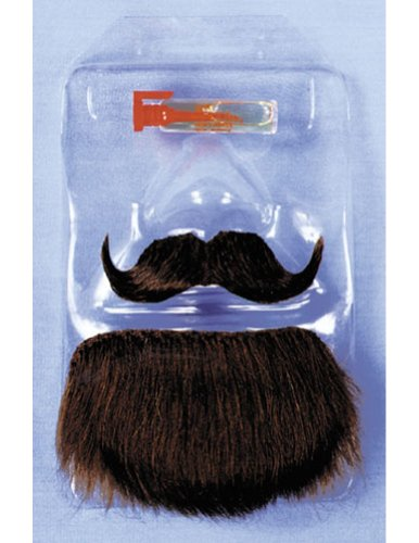 Costume-Accessory Mustache Goatee Amigo Brown Halloween Costume Item - 1 size