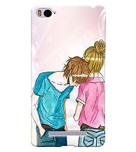 Fuson Love Couple Back Case Cover for XIAOMI Mi4i - D4031
