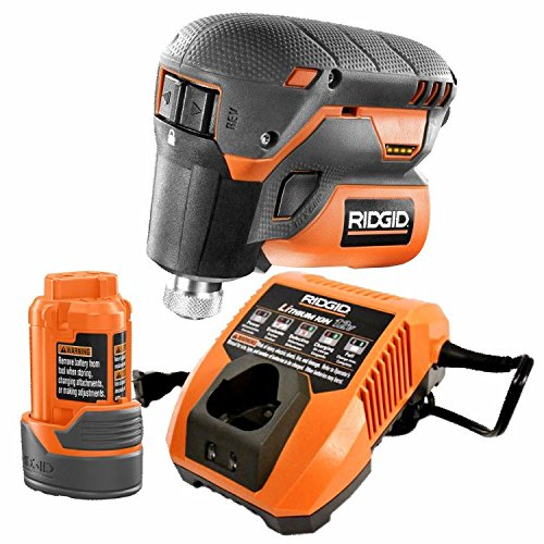 Best Price Ridgid R8224K 12-Volt Lithium-Ion 1/4 in. Cordless Palm Impact Screwdriver Kit With Batte...