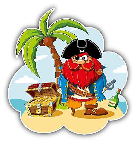 Pirate Treasure Island Car Window Bumper Decal Vinyl Sticker 5