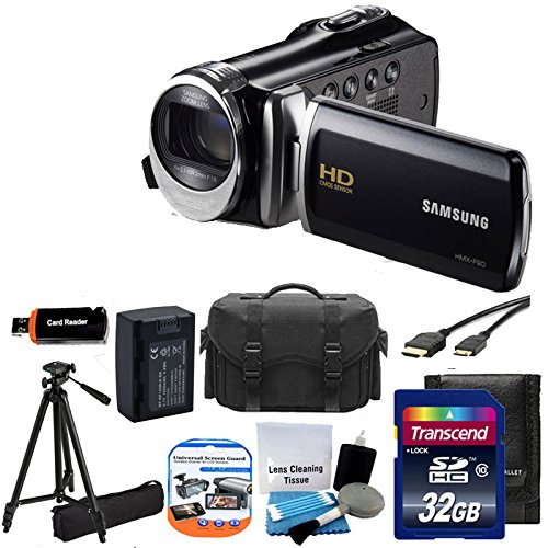 "Great Features Of Samsung HMX-F90 Black Camcorder with 2.7"" LCD Screen and HD Video Recording +..."