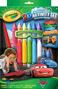 Crayola 3D Washable Sidewalk Chalk Activity Set