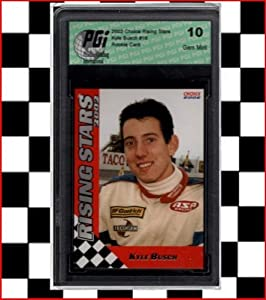 Buy 2002 Kyle Busch Choice Rising Stars Rookie Card PGI 10 by PGI