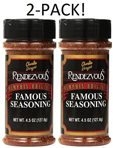 Charlie Vergos Rendezvous Famous Memphis Barbecue Dry Rub Seasoning (4.5 oz) *2-Pack* (Rendezvous Seasoning compare prices)
