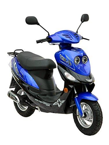 Roller-GMX-550-Mofa-25-kmh-blau-24-KW-33-PS-Luftgekhlt-Alufelgen-Gepcktrger-Scheibenbremse-Teleskopgabel-Hydraulisch-ab-15-Jahren