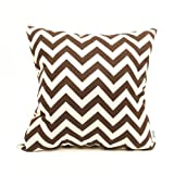 Majestic Home Goods Chocolate Zig Zag Pillow, Large