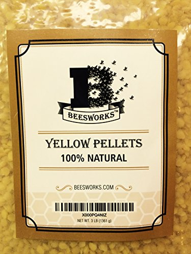 Organic Yellow Beeswax Pellets by Your Natural Planet - 14oz Tested and Certified 100/% Organic Now Beesworks/®