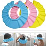 Infant Baby Children Kids Bath Shower Shampoo Cap Hat Bathing Accessories Hy7 3pcs