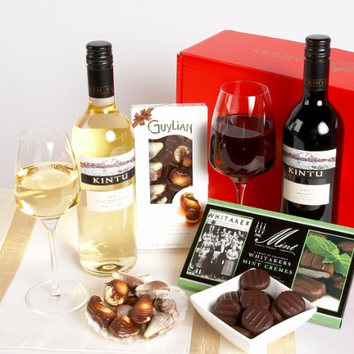CHILEAN WINES, CHOCOLATES AND MINTS IN GIFT BOX