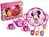 Disney Minnie Mouse 16 Piece Toy Tea Play Set Kettle Cups Tray Spoons Saucepans