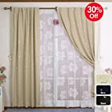 Star Print Thermal Insulated Blackout Curtain Set 84