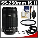 Canon EF-S 55-250mm f/4.0-5.6 IS Telephoto Zoom Lens + UV Filter + Accessory Kit for Digital Rebel XS, XSi, XSi, T1i, T2i, EOS 50D, 60D & 7D Digital SLR Camera ~ Canon