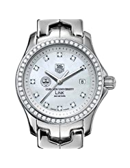 On Sale Clemson University TAG Heuer Watch - Women's Link Watch with Diamond Bezel a