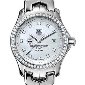 Clemson University TAG Heuer Watch - Women's Link Watch with Diamond Bezel a